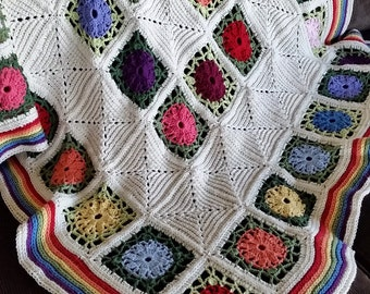US Terms Posies and Pickets Crochet Pattern