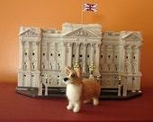 Welsh Corgi Miniature Queen Elizabeth Jubilee Needle Felted Wool Dog Pet *Ready to Ship*