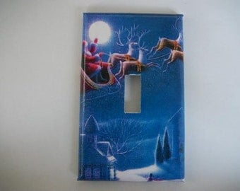 SWITCH PLATE COVER - Santa's Sleigh