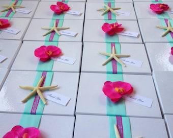 Orchid Favor Box, Starfish Favor Box, Wedding Favor