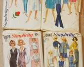 Lot of 1960s Vintage Patterns / Precut/ 60s Lot 1