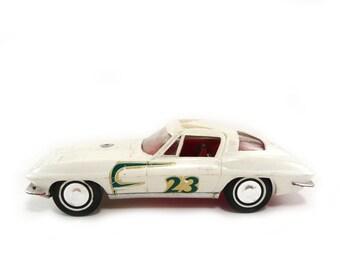 1960s model car - hard top Chevrolet Corvette, Vintage Korris Kars model Chevy, Classic automobile