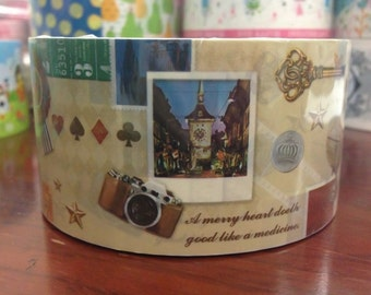 Deco Tape adhesive Stickers - Vintage Postcard Collage DTB170 (30meters)