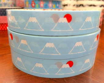Light blue Deco Tape Stickers - Fuji mountain DT568 10meters