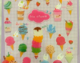 Funny Gel Deco sticker art stickers - Ice cream 1 Sheets SS281