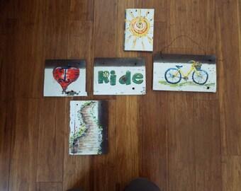 Wooden Bike Plaque