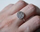 Sterling silver ring Bambu shape