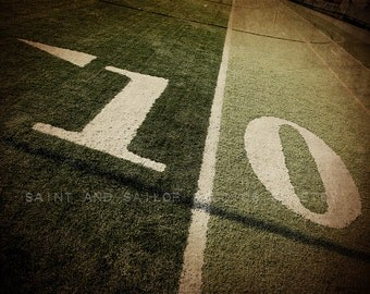 10 Yard Line Football Field Photo Print, Boys Room, Wall Decor, Wall Art,  Man Cave,Boys Nursery Ideas, Gift Ideas,