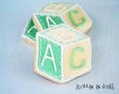 Baby Shower Cookies,  Alphabet Blocks Cookies, Baby Block Cookies