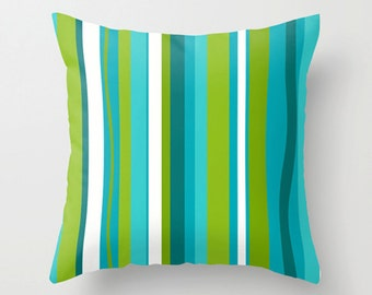 Pillow Cover, Modern Pillow Cover, Retro Pillow Cover, MidCentury Modern Pillow Cover, Decorative Pillow Cover, Striped Pillow Cover