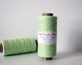 Green Bakers Twine, Lime Sorbet Twine, Colored Twine