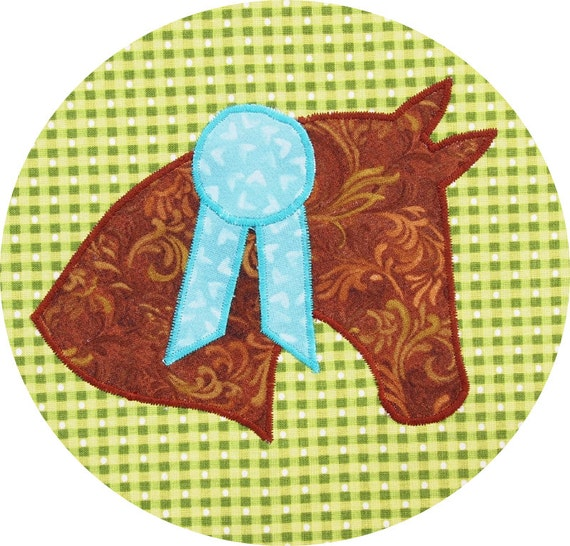 Horse Applique Pattern Instant Download