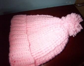baby hat pink hat crochet girl hat