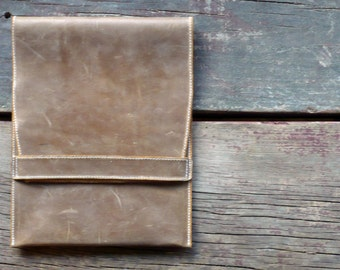 Leather iPad Case- light brown, lined
