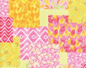 Fleurologie - Patchwork in Pinkberry Sunshine by Stephanie Ryan for Moda Fabrics