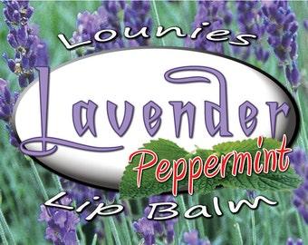 Lavender Peppermint Lip Balm| Flavored | Essential Oil | Scented Lip Balm | Flavored Chapstick | Lip Balm | Chapstick | Chap Stick | Flavors