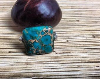 Dyed Imperial Jasper Ring size 9