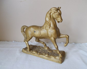 Vintage Bronze Horse Statue