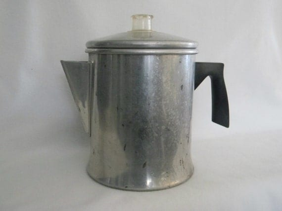 Mirro Vintage Aluminum Coffee Pot Percolator / by moncyscottage
