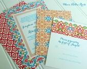 Spanish Tiles Wedding Invitations