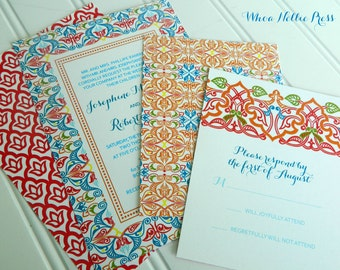 Spanish Tiles Wedding Invitations