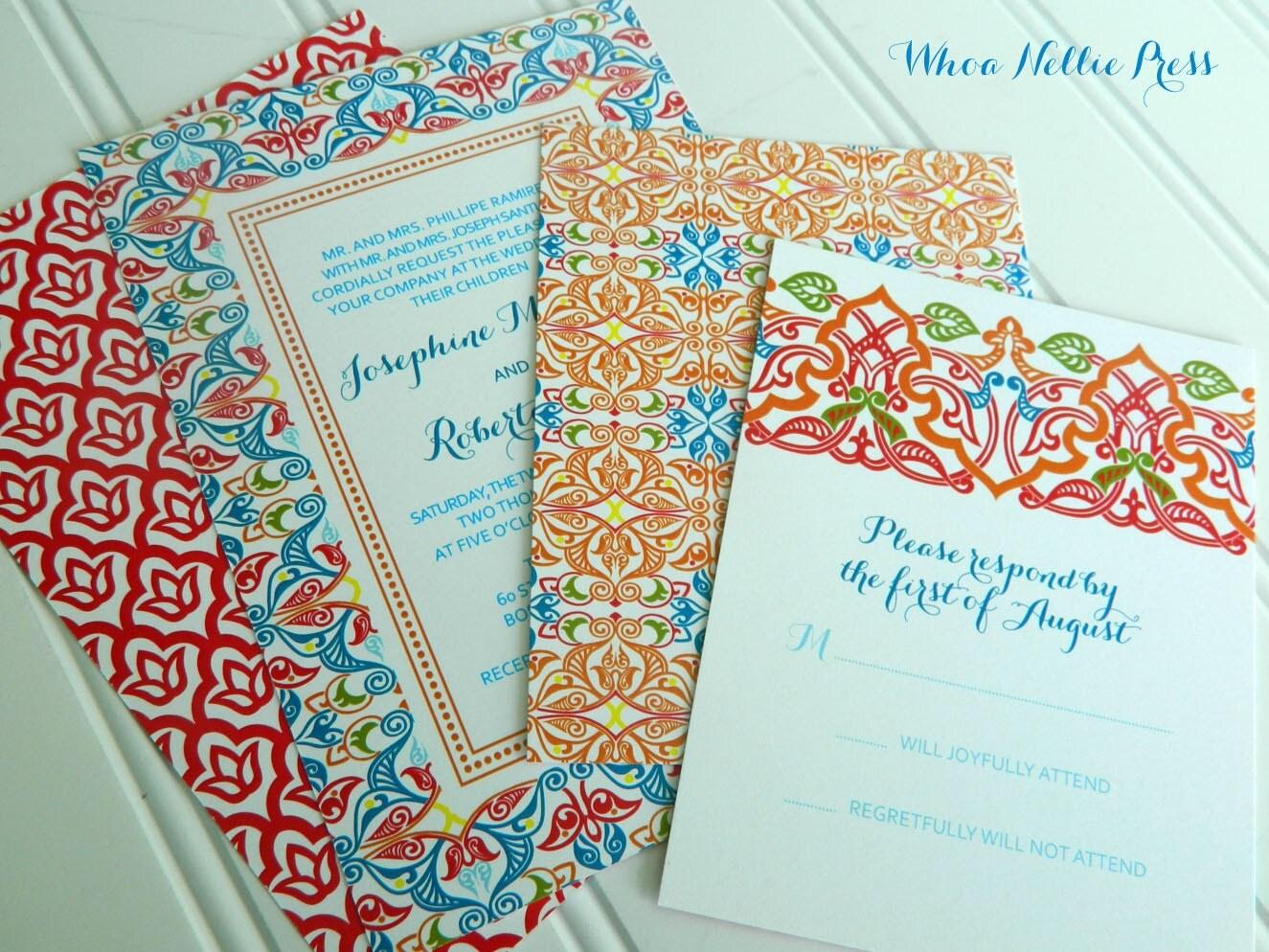 Wedding Invitation In Spanish Wording: Spanish Tiles Wedding Invitations