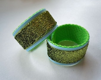 Shirt Sleeve Holders in Lime GLITTER You Choose Colors and Create Your Own