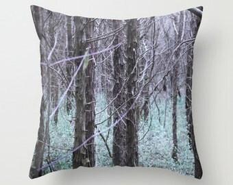 DECORATIVE PILLOW COVER - Enchanted Woodland -home decor- photo pillow- cape cod - new england -gift idea