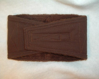 Waist 11.00 x Width 3.25 inches Male Dog Belly Band Wraps by Sew Dog Diapers Quilted Padded Belt BellyBand #567 Chocolate