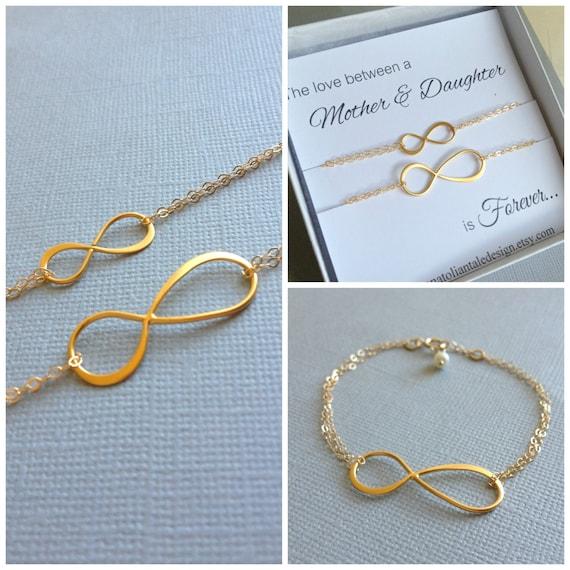 Items Similar To Mother Daughter Bracelet Set Infinity