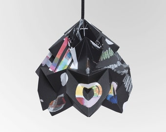 "Moth origami lampshade ""Nacht"" - in collaboration with Tas-ka"