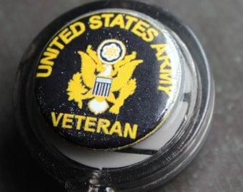United States Army Veteran Badge Holder Retractable Badge Holder
