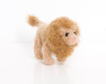 Miniature Needle Felted Pocket Lion