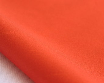 Flamy Orange Art Silk Fabric By The Yard Silk Curtain Fabric Apparel Fabric Silk Dupioni Fabric Indian Silk Fabric By The Yard