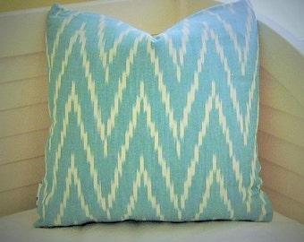 Schumacher Kasari Ikat Designer Pillow Cover - Square, Euro and Lumbar Sizes