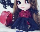 The unicorn blythe dress / dal/Jerryberry/pullip dress/YOSD dress/Cute princess outfit / Blythe fashion / bow dress / bow headwear