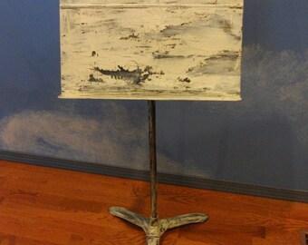 Handpainted Distressed Vintage Music Stand Laptop Podium Table