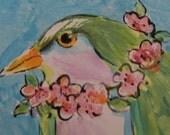 GARDEN PARTY Green Bird Tile