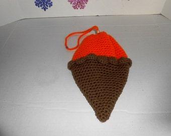 Sherbert Ice Cream Cone Purse Hand crochet by kams-store.com