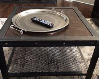 Custom Vintage-Look Industrial Coffee Table #017  •  Industrial Style Furniture by Industrial Evolution Furniture Co.