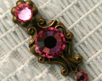 Tiny Rose Bindi in Oxidized Brass