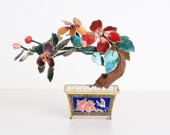 Vintage Asian Cloisonne Enamel Tree