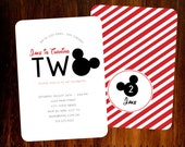 Mickey Mouse invitations, double sided set of 15