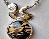 Shark and The Squid, Boulder opal Necklace