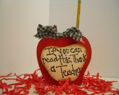 Teacher Gift Red Apple Pencil Holder