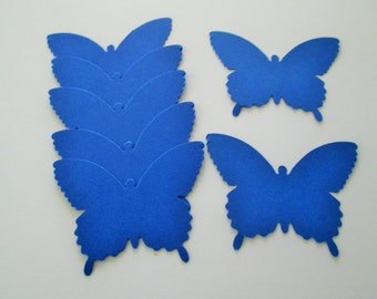 50 Large Royal Blue  Country Butterfly  die cuts