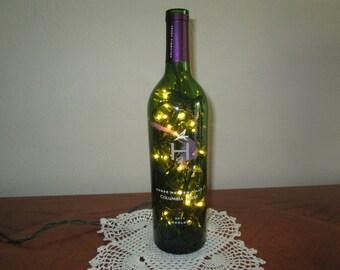 Horse Heaven Hills Green Wine Bottle Light, Man Cave Decor, 21st Birthday, Bar Light