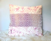 Handwoven Mohair Pillow, Pink Jellyfish Hand Dyed Pillow Cover, Luxury Pillow, Decorative Throw Pillow 20x20, Pale Pink Pillow, Valentines
