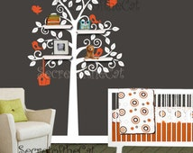 Nursery wall decals - Shelving tree wall decal - shelves tree decals - Tree wall decal - wall sticker - nursery baby decals