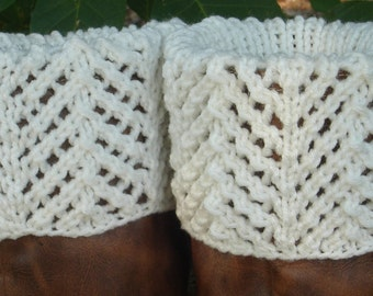 Boot Toppers - Chevron Lace